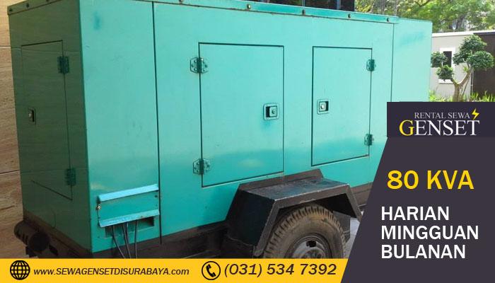 Harga Rental Genset 80 KVA Surabaya Harian
